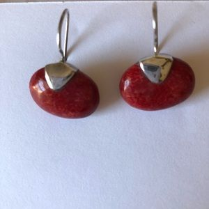 Jewelry - Red Sponge Coral Earrings